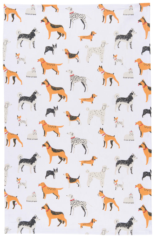 Lots of Dogs Cotton Dishtowel