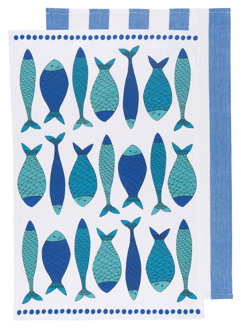 School of Fish Cotton Towel Set