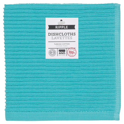 Ribbed Cotton Terrycloth Dishcloths Set of 2