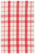 Red Windowpane Dish Towel
