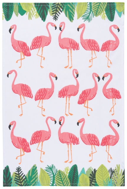 Flamingos Cotton Dish Towel