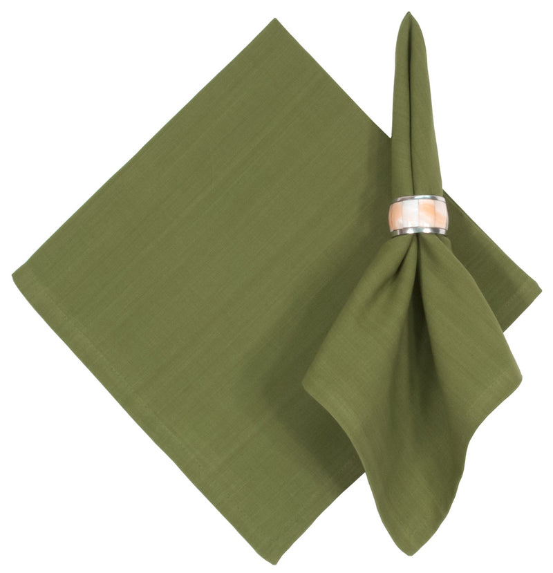 Solid Fern Green Cotton Napkin