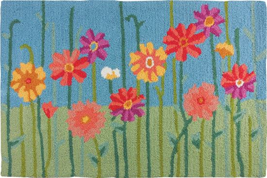 Field of Flowers Kitchen Rug