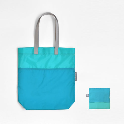 Foldable Nylon Reusable Tote Bag Marine Blue
