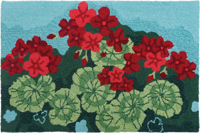 Geranium Garden Kitchen Rug