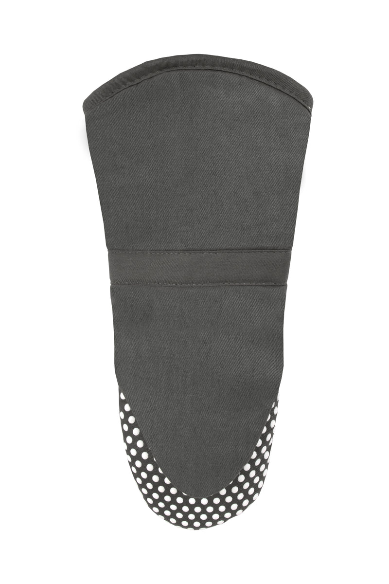Gray Oven Mitt Silicone Grip