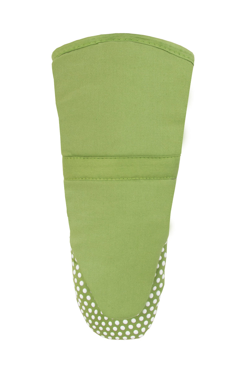 Green Oven Mitt Silicone Grip