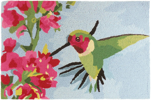Hummingbird with Flowers Kitchen Rug