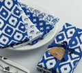 Assorted Indigo Patterned Napkins S/4