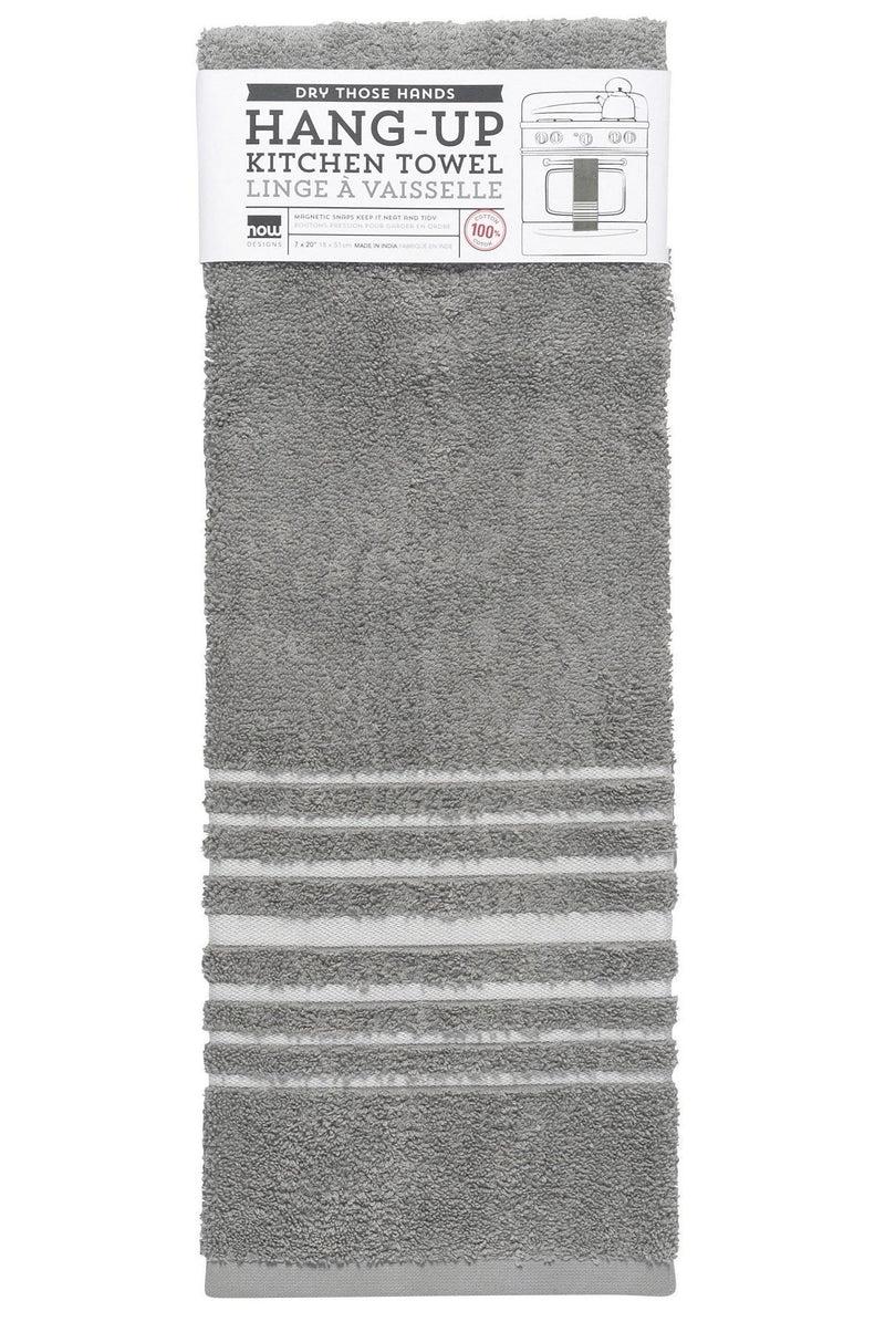 Gray Cotton Terry Hang Up Dishtowel
