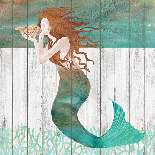 Waterside Mermaid Paper Cocktail Napkins