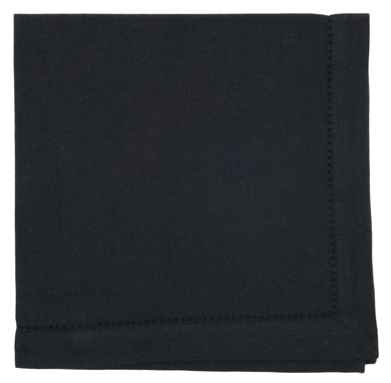 Black Cotton Hemstitch Napkin
