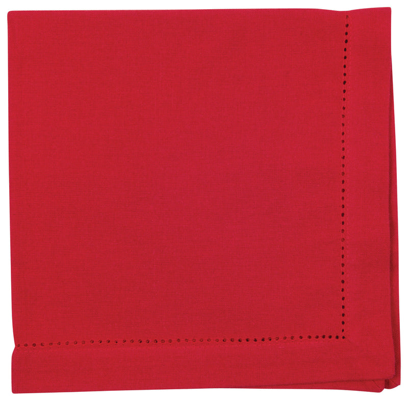 Chili Red Cotton Hemstitch Napkin