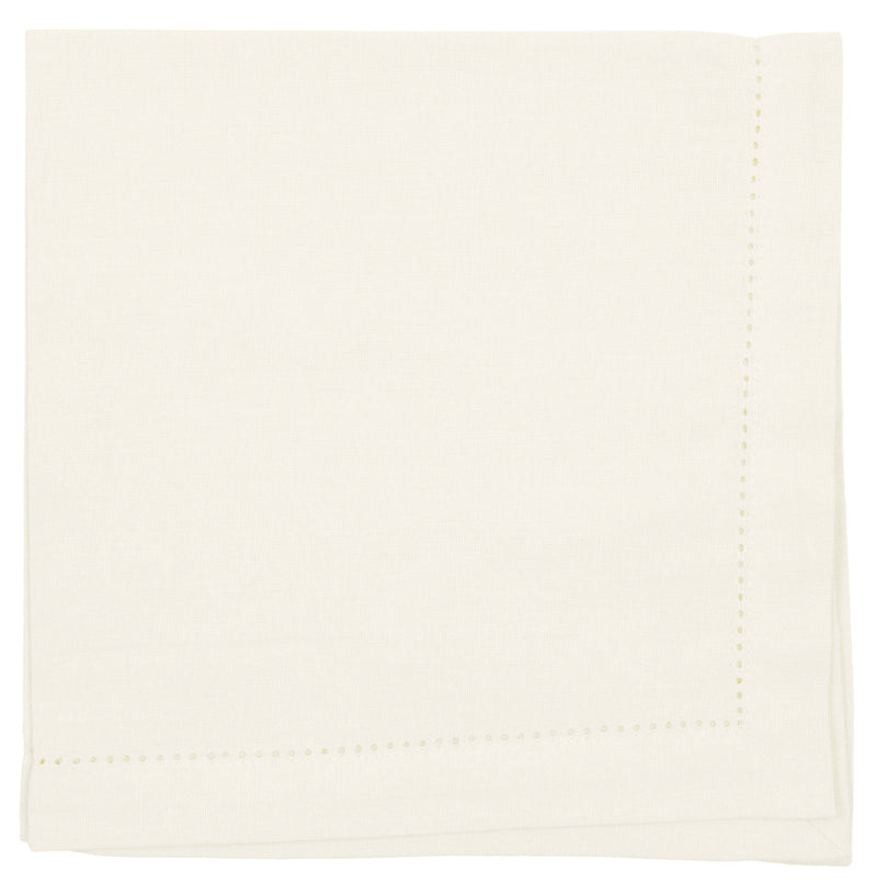 Ivory Cotton Hemstitch Napkin