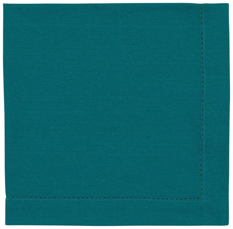 Teal Hemstitch Cotton Napkin