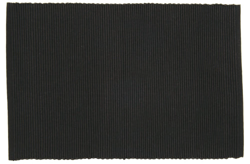 Black Ribbed Placemat