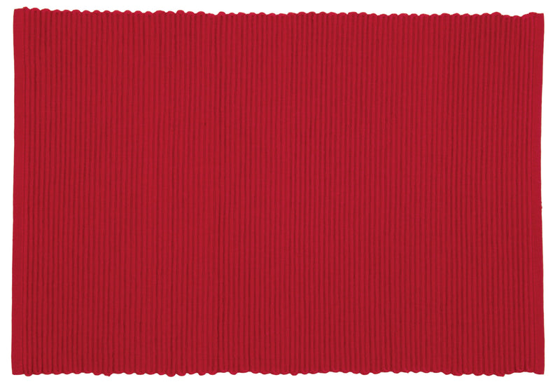 Chili Red Ribbed Placemat