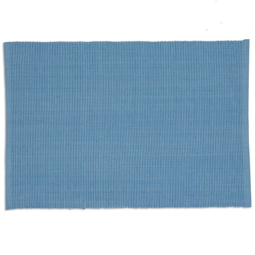 Denim Blue Ribbed Placemat