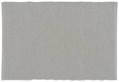 Gray Ribbed Cotton Placemat