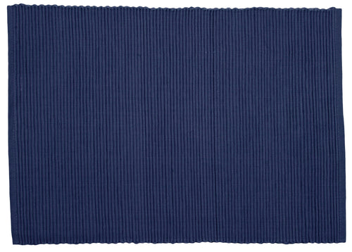 Indigo Blue Ribbed Placemat