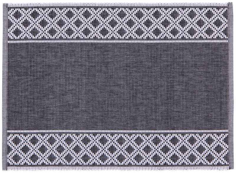 Black Shetland Ribbed Placemat