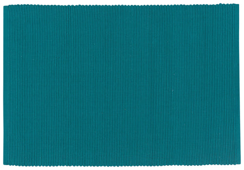 Teal Ribbed Cotton Placemat