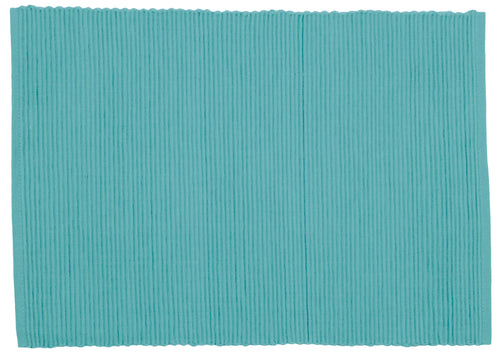Turquoise Ribbed Cotton Placemat
