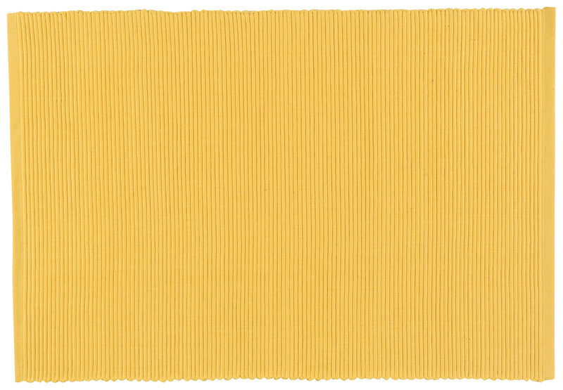 Yellow Ribbed Placemat Wild Cotton Linens