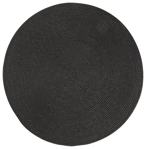Black Round Placemat