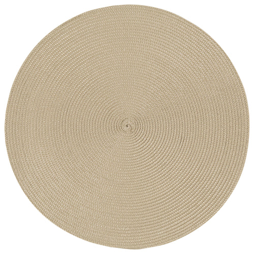 Taupe Round Placemat
