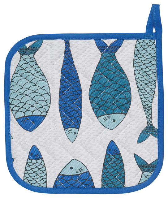 School of Fish Cotton Potholder