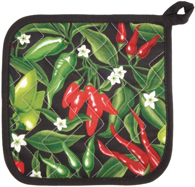 Chili Peppers Quilted Pot Holder
