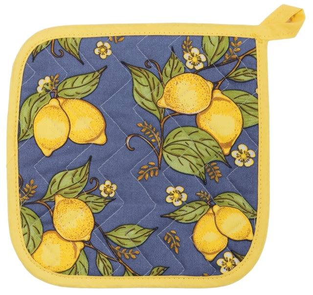 Provence Blue and Yellow Lemons Potholder
