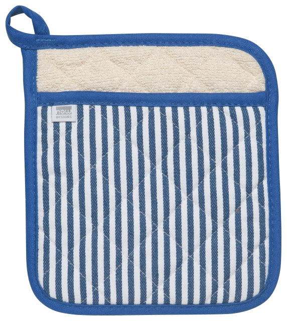Royal Blue Narrow Stripe Potholder