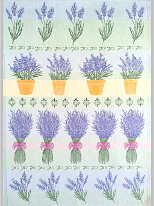 European Pots of Lavender Dishtowel