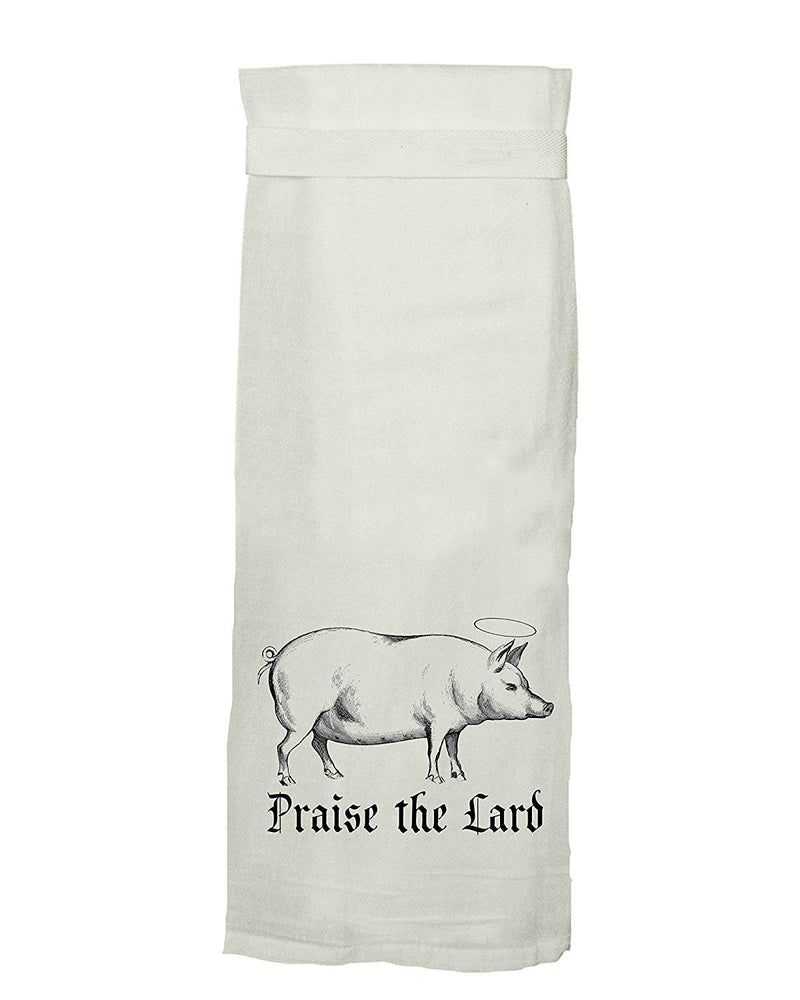 Praise the Lard Flour Sack Dishtowel