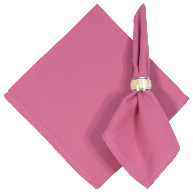 Solid Raspberry Raw Cotton Napkin