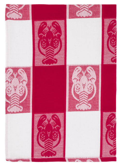 Red Check Lobster Dish Towel