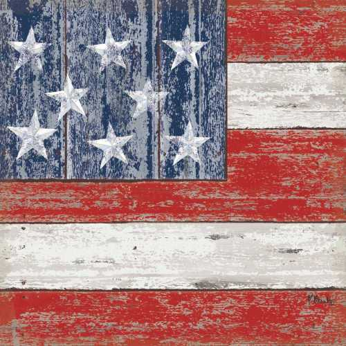 Rustic American Flag Lunch Napkin