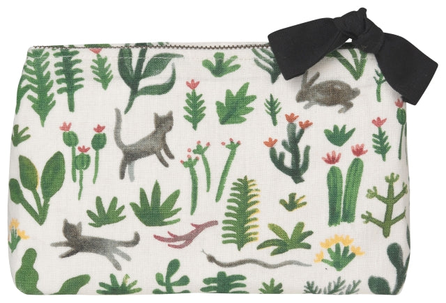Small Cats Garden Cosmetic Bag