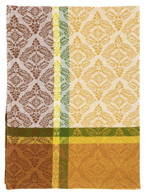 Brown Tan Medallion Cotton Towel