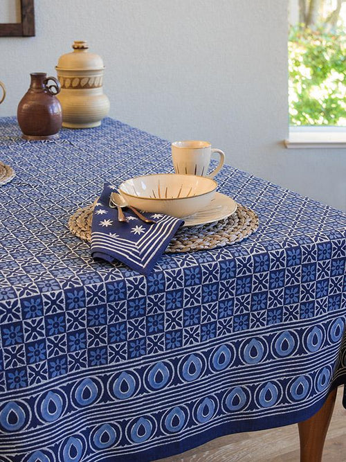 Starry Night 70x90 Blue Tablecloth