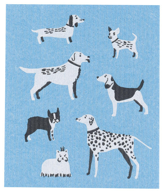 Dogs Swedish Dish Cloth