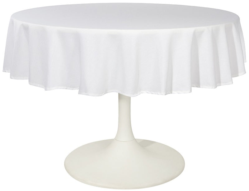 White Cotton 60 Round Tablecloth