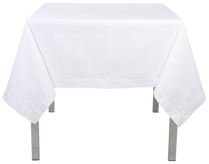 White Cotton Hemstitch 60 x 120 Tablecloth