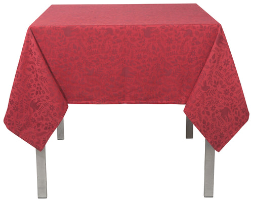Wonderland Red Jacquard 60 x 120 Tablecloth
