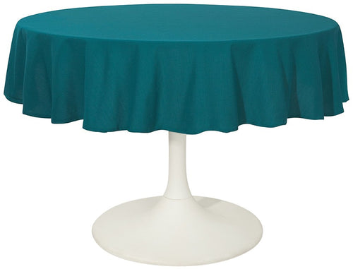 Teal Cotton 60 Round Tablecloth