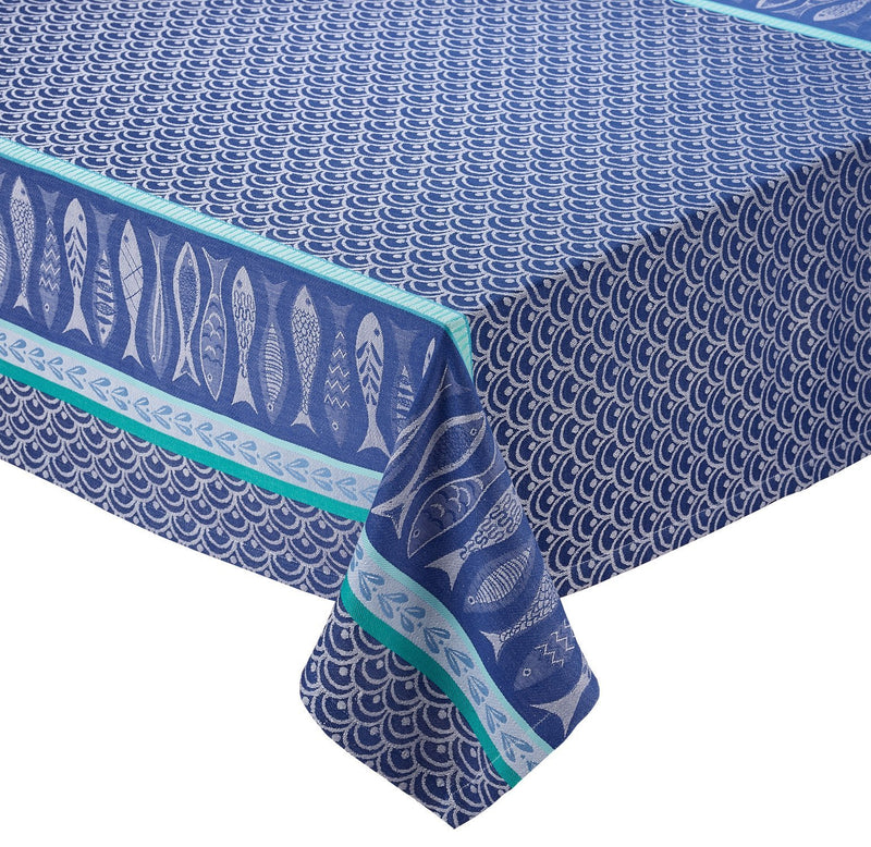 Blue Fish 52x52 Tablecloth