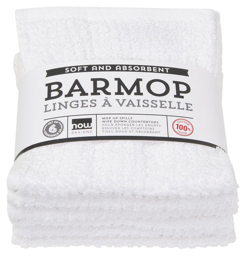 White Bar Mop Towel Set