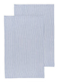 Blue Stripe Cotton Glass Towel Set